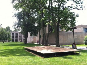 CFA Courtyard Stage 6/30/11
