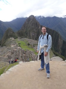 Jonathan Kalb '81 at Machu Picchu. Photo by his wife Julie Heffernan.