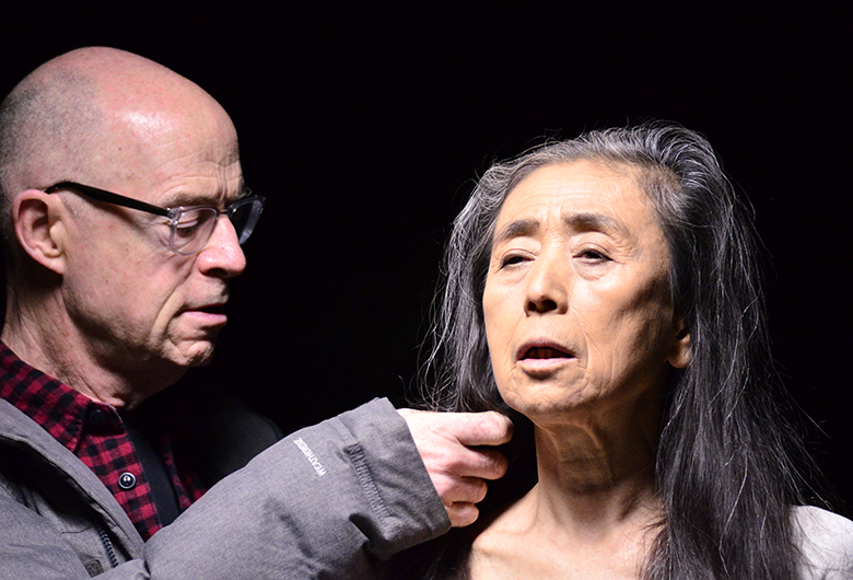 Eiko Otake with John Killacky (photo by Jean Cross)